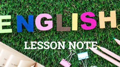 English Lesson Note