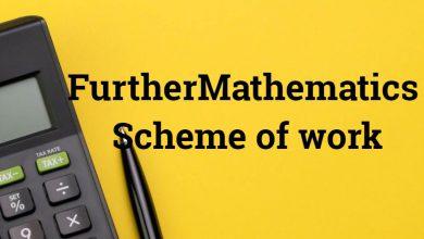 Further Mathematics Scheme of work
