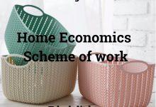 Home Economics Scheme of work